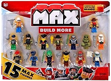 Zuru Max build more Blocks 15 character Max Figures 5 Max Base Plates NEW