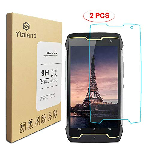 [2 Pack] Ytaland for for Cubot King Kong Screen Protector, Tempered Glass Anti-Fingerprints Thin 9H Hardness Screen Protector for for Cubot King Kong