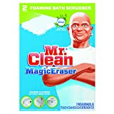 Mr. Clean PGC 27141 Magic Eraser Bathroom Scrubber, 4 1/2'' x 3 1/5'', White (Pack of 2)