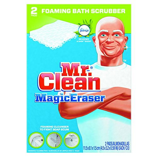 Mr. Clean PGC 27141 Magic Eraser Bathroom Scrubber, 4 1/2'' x 3 1/5'', White (Pack of 2) by Mr. Clean