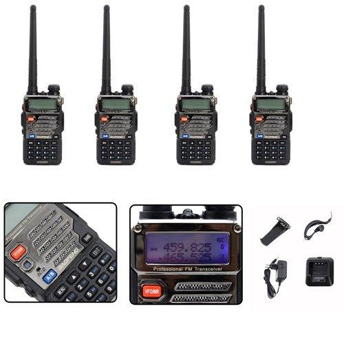 vingo® 2x BaoFeng Double bande radio bidirectionnelle VHF PMR portable Radio Amateur UV 5R Plus CTCSS Radio Casque