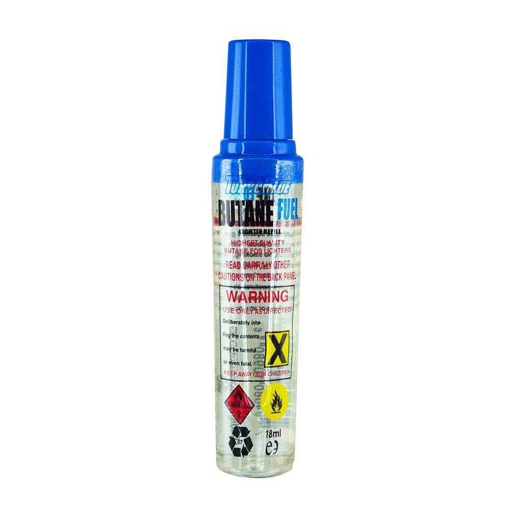 Turbo Blue 18 ml Butane Fuel Refill for Torch Lighters
