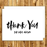 Thank You Cards Set. 151 Thank You For Being Awesome. Appreciation Cards. Set of 10 Wedding Thank You Cards Folded With Envelopes. Blank Inside