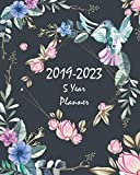 """2019-2023 5 Year Planner: Floral and Bird 60 Months Planner and Calendar Agenda And Organizer 8"""" x 10"""" with holidays"""