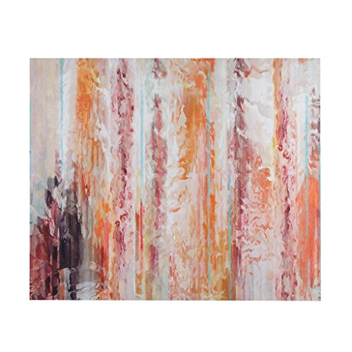 Urban Habitat Passion Coral Abstract White Canvas Wall Art 30X36, Modern/Contemporary Wall Décor