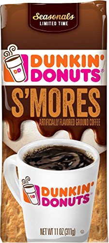 Dunkin' Donuts S'mores Flavored Ground Coffee, 11 oz