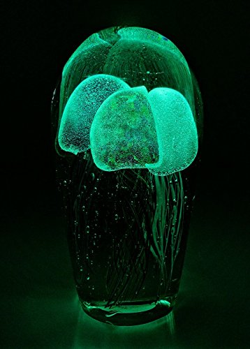 grande vetro Medusa ornamento//fermacarte Glow in the Dark