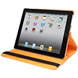 Natico Faux Leather Case for iPad 2/3/4 - Orange (60-I360-OR)