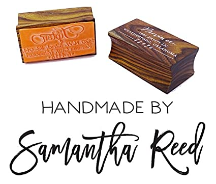 amazon com personalized handmade by stamp custom wood mounted