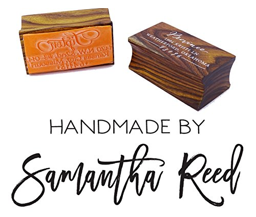 Personalized Handmade By Stamp Custom Wood Mounted Rubber Stamp Engagement - Card Processing Gift