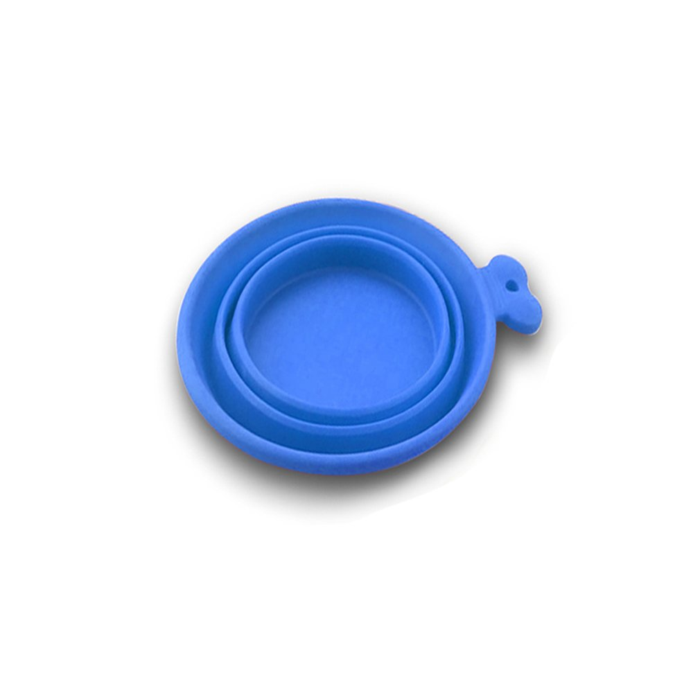 Be Good Foldable Food Grade Silicone Dog Bowl Expandable Portable Travel Camping Pet Cup Dish Food Water Feeder for Small Medium Dogs and Cats Blue