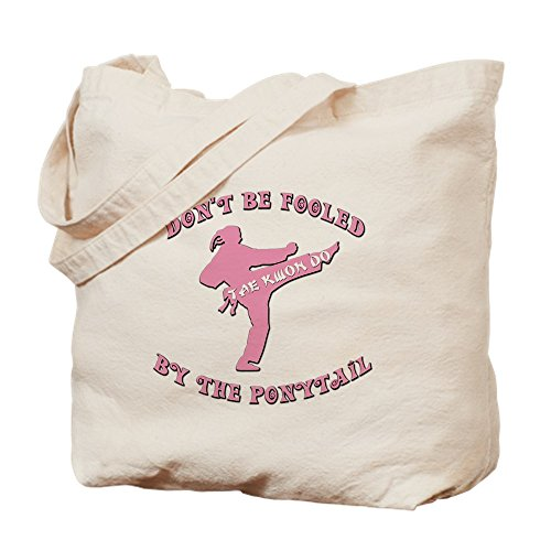 CafePress Taekwondo Natural Canvas Tote Bag, Cloth Shopping Bag