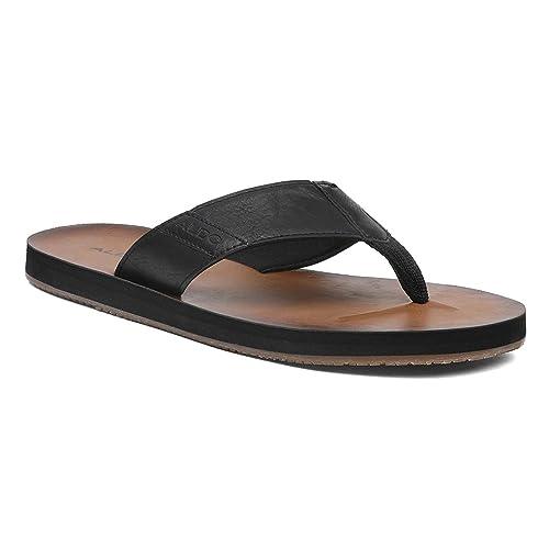 Buy Aldo Black Flat Sandals for Men at