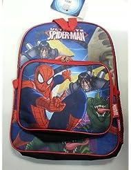 Backpack - Marvel - Spiderman - Super Hero w/ Lunch (Large School Bag) 010392