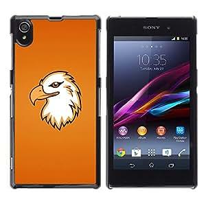TECHCASE**Cubierta de la caja de protección la piel dura para el ** Sony Xperia Z1 L39 C6902 C6903 C6906 C6916 C6943 ** Eagle Head Art Flying Bird Portraid Magnificent