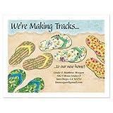 Baja Flip-Flops New Address Postcards - Set of 24 5-1/4'' x 4'' post cards