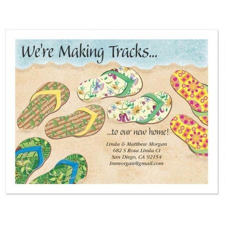 Baja Flip-Flops New Address Postcards - Set of 24 5-1/4'' x 4'' post cards by Colorful Images