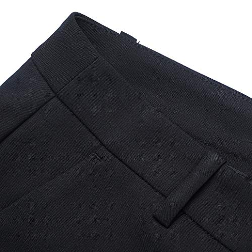 Marycrafts Women's Work Ankle Dress Pants Trousers Slacks ,Medium,Black 2 by Marycrafts (Image #2)