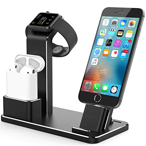Joselinen Compatible with Apple Watch Charger Stand for iWatch Charging Stand for AirPods, iWatch Series 4/3/2/1,iPhone Xs/X Max/XR/X/8/8Plus/7/7 Plus /6S /6S Plus/iPad