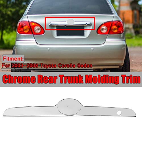 New Chrome Car Rear Trunk Lid Edge Tailgate Boot Door Cover Trim Molding Trim For Toyota Corolla Sedan 2003-08 Replacement Part