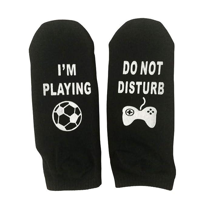 Calcetines Divertidos de la tripulación Novedad Calcetines de Tobillo Hombres Mujeres Algodón Calcetín Antideslizante para Fortnite Game Lover (Color ...