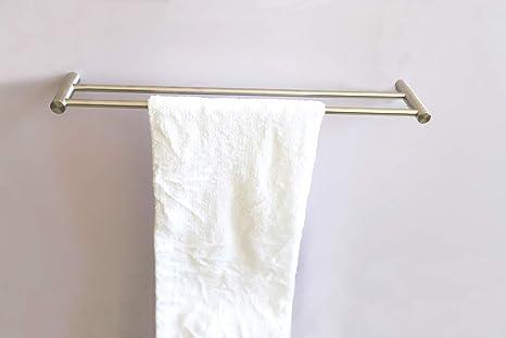 Togu 23.4 pulgadas sus 304 Acero inoxidable doble toallero de barra Heavy Duty toalla toallas de ...