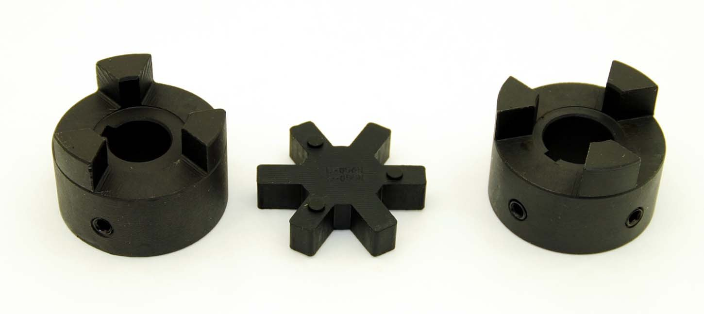 1/2'' to 1'' L095 Flexible 3-Piece L-Jaw Coupling Coupler Set & Rubber Spider