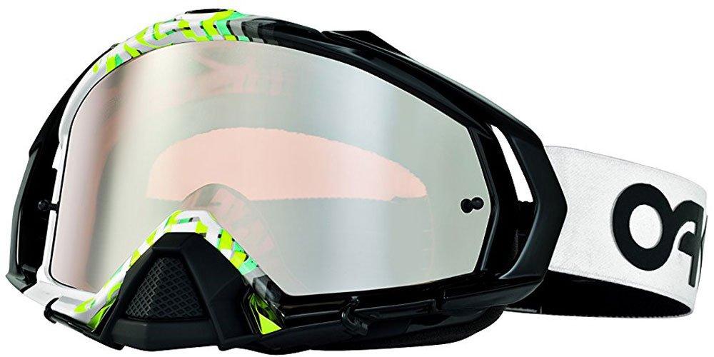 Oakley Mayhem Pro Fact Fade Goggles (White Frame/Black Iridium Lens)