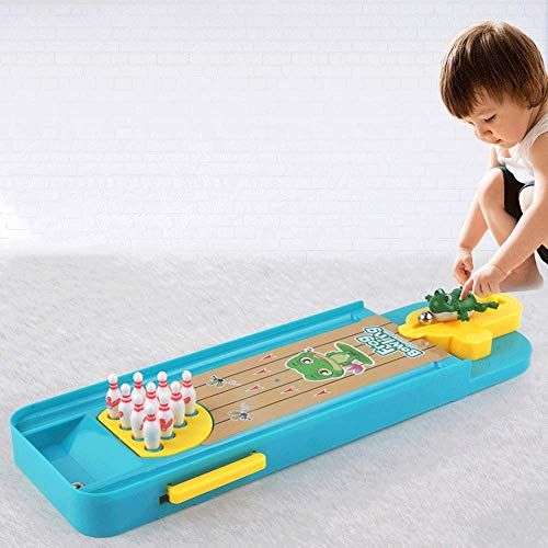 BOLLAER Frog Bowling Table Games Reduce Stress Killing Time, Best Family Party Desktop Toys for Kids Adults, Best Gift for Children Kids Favorite Gift
