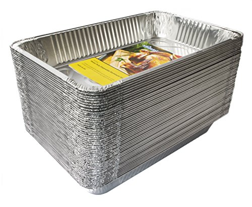 eHomeA2Z (50 Pack) Disposable Aluminum Foil Steam