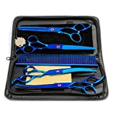 Wasan Professional Pets Grooming Scissors, Sharp and Strong Stainless Steel Blade for Dogs Cats Hair Cutting