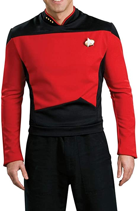 Star Trek uniforme-tng-algodón capitán rojo XXL