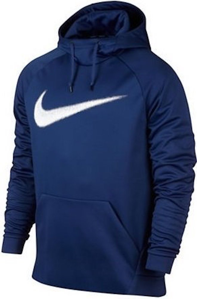 Nike Men's Therma Training Pullover Hoodie Deep Royal Blue/White by Nike