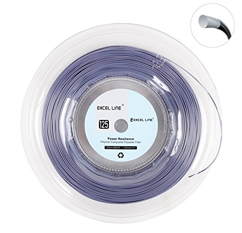 Excel Line 660FT Premium Reel Synthetic Gut Tennis Racquet String-1.25mm/17 Power Resilience - Tennis Racket String