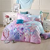 YIweNi Active printing Four piece set _cotton stamp 4 piece floral bed, positioning 13372 Tysan Dance, 2.0 bed with a flower is set 220240cm