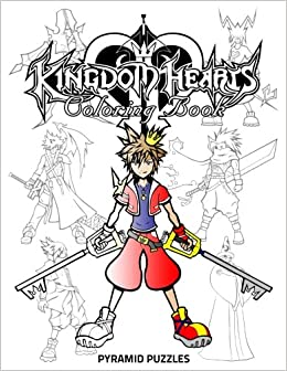 amazoncom kingdom hearts coloring book 9781548993993 pyramid puzzles books