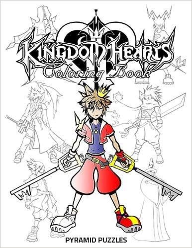 Amazon.com: Kingdom Hearts Coloring Book (9781548993993): Pyramid ...