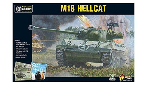 Bolt Action M18 Hellcat Tank Destroyer 1:56 WWII Military Wargaming Plastic Model Kit ()