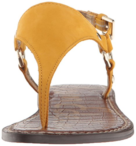 Leather Sunset Greta Amarillo Talón Nubuck Abierto Mujer de Sam Edelman Cuero Yellow Sandalias xa7RwBcOq