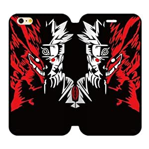 The Fox Red Ferocious Japanese Blood Cartoon Naruto Iphone 6 Plus 5.5 Case Cover Shell (Laser Technology)
