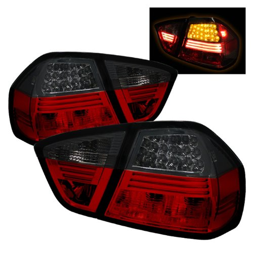 Spyder Auto ALT-YD-BE9006-LED-RS BMW E90 3-Series 4-Door Red/Smoke LED Tail Light