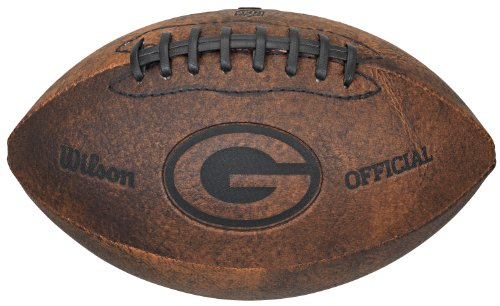 Gulf Coast Sales NFL Green Bay Packers Vintage Throwback Football, 9-Inches