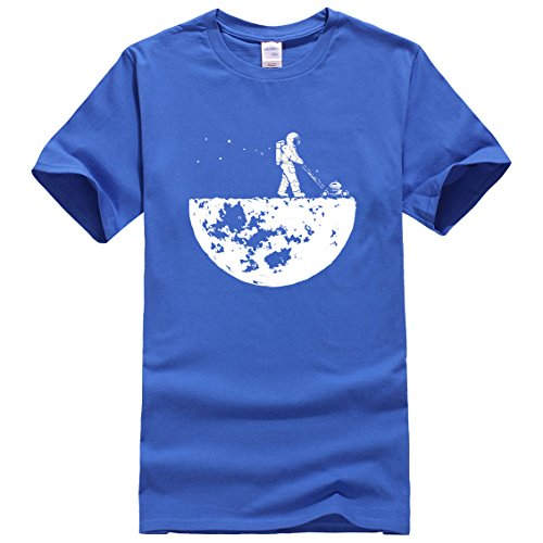 Men t-Shirt Novelty Design HanHent Develop The Moon Cotton Brand Men's t Shirt Harajuku Fitness Tops Tshirt Blue - Tx Stores In Victoria