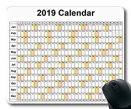 Yanteng 2019 Calendario Alfombrillas para ratón Juegos, días ...