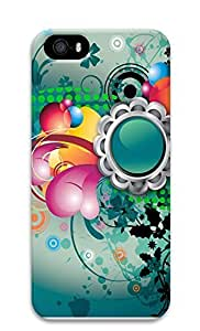 iPhone 5 5S Case Abstract Art Flowers Color Pattern 3D Custom iPhone 5 5S Case Cover