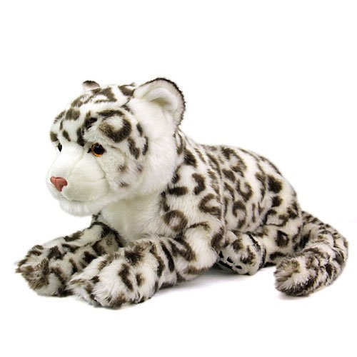 Real snow leopard stuffed animal real parent family series (japan import)