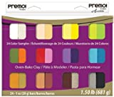 Polyform Premo Clay Sampler Pack, Assorted Colors, 24-Pack