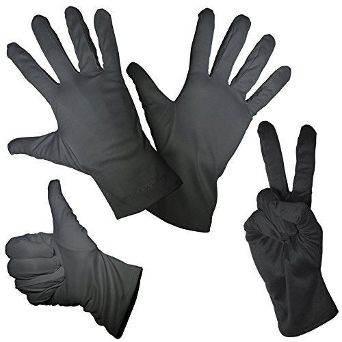 1 Pair of Fine High Quality Mikrofiber Gloves - Black Color - 4 Sizes: S M L XL - For Cleaning Purposes or for Costumes / Clothing On Carnival St Patricks Day Halloween Xmas and More - High Quality Processed Material - Compfortable to Wear (Small)