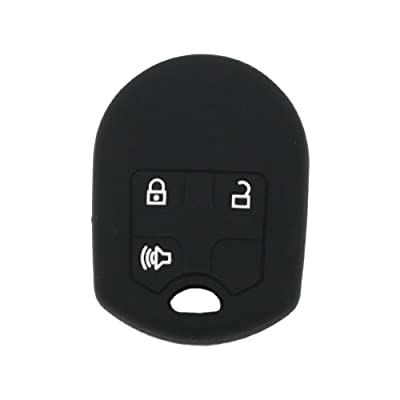 SEGADEN Silicone Cover Protector Case Skin Jacket fit for FORD 3 Button Remote Key Fob CV2709 Black: Automotive