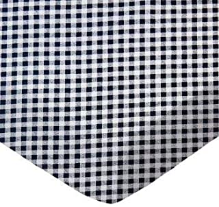 product image for SheetWorld 100% Cotton Percale Fitted Crib Toddler Sheet 28 x 52, Navy Gingham Check, Made in USA